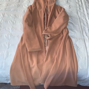 LIKE NEW! Love Tree Belted Camel Trench Coat